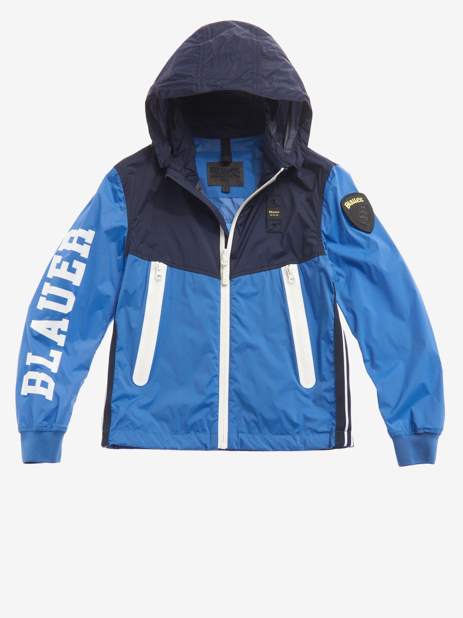 Blauer - GIUBBINO BAMBINO SFODERATO BICOLOR GORDON - Blu Zaffiro Chiaro - Blauer