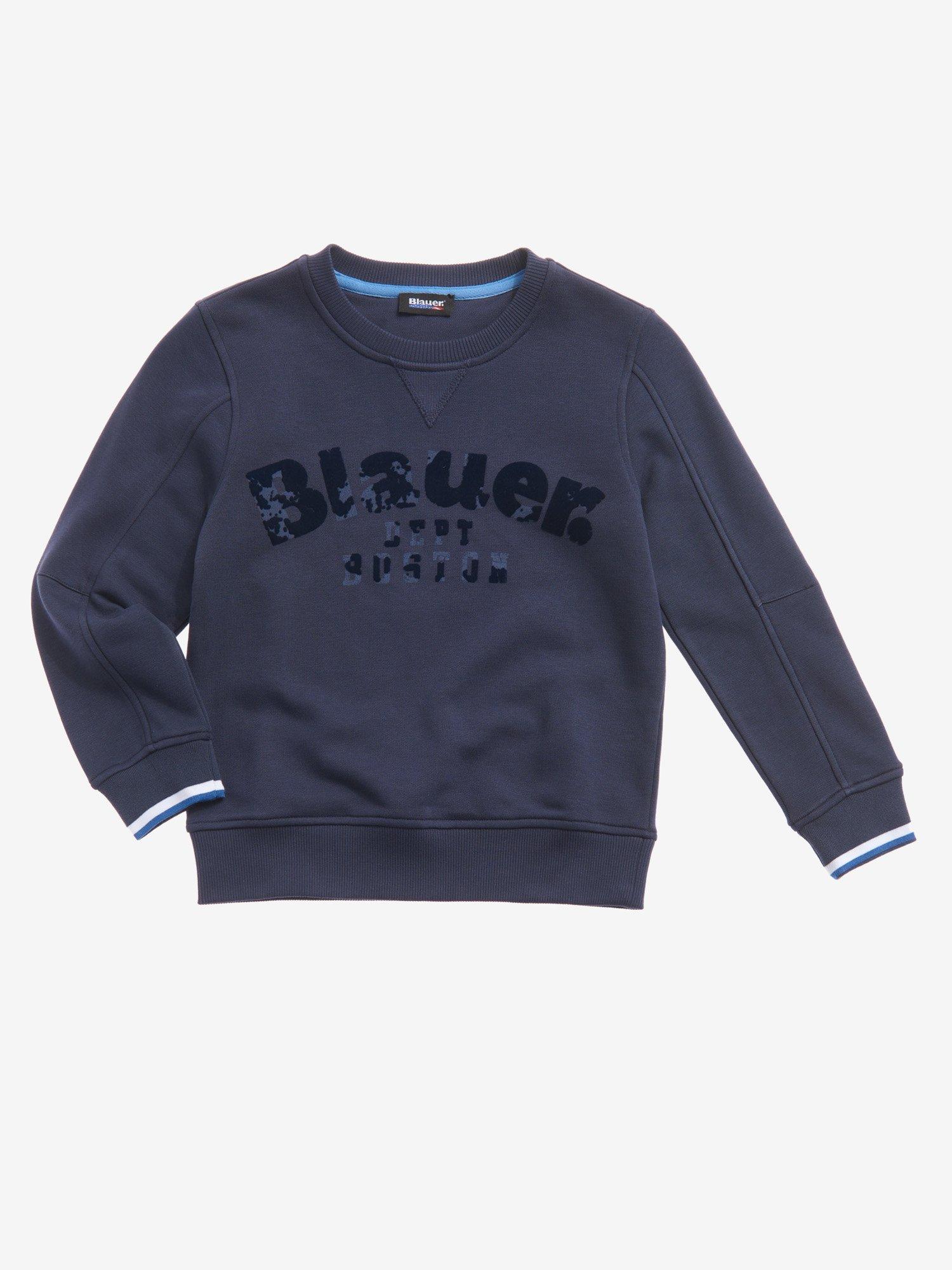 Blauer - FELPA BAMBINO GIROCOLLO - Zaffiro Scuro - Blauer