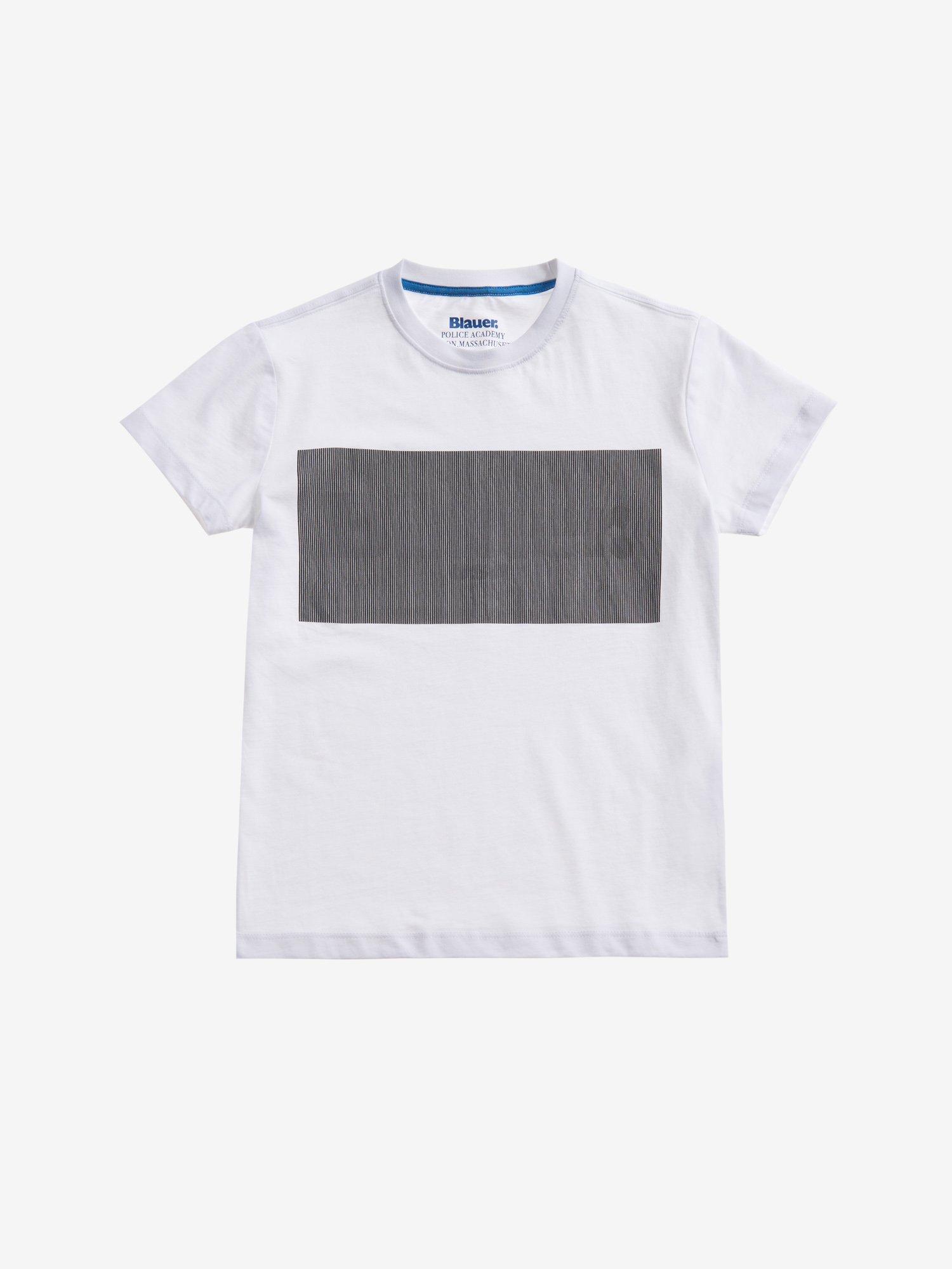 Blauer - T-SHIRT WITH LENTICULAR PRINT - white - Blauer