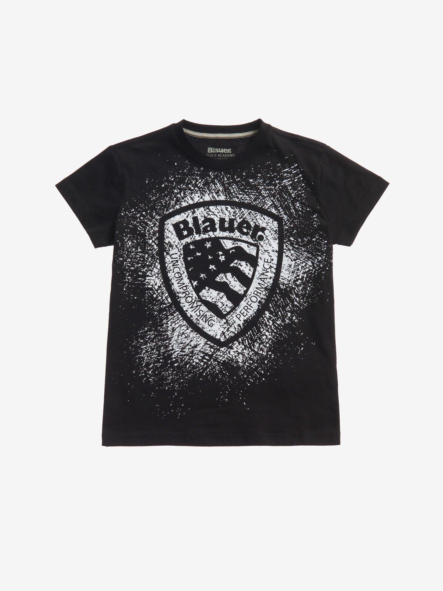 Blauer - T-SHIRT POUR GARÇON ÉCUSSON BLAUER - Noir - Blauer