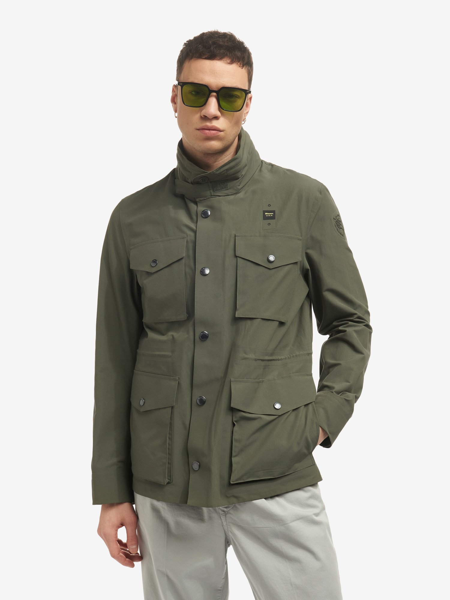 OSCAR FIELD JACKET IN TECHNICAL COTTON - Blauer