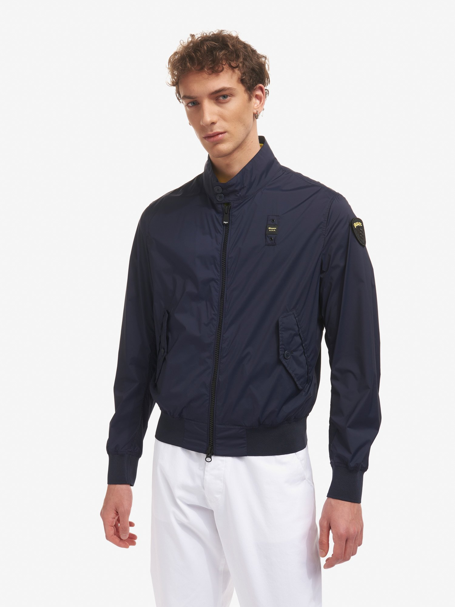 LEE STRETCH UNLINED MILITARY-STYLE JACKET - Blauer