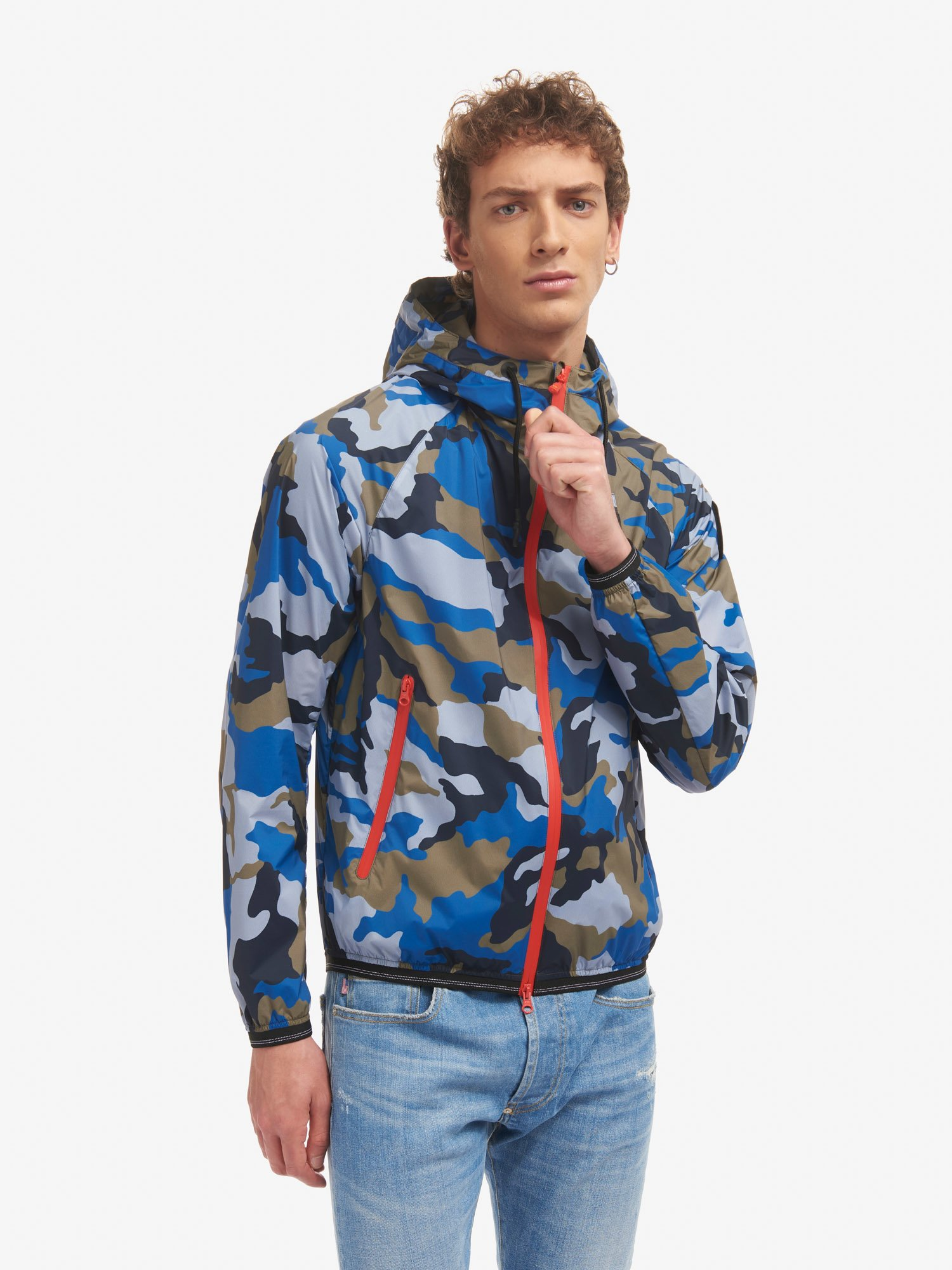 Blauer - EDWIN STRETCH CAMOUFLAGE JACKET WITH HOOD - Light Sapphire Blue - Blauer