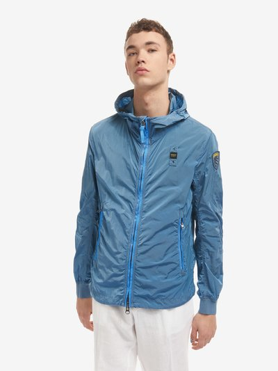 FRANCIS GARMENT-DYED JACKET WITH HOOD