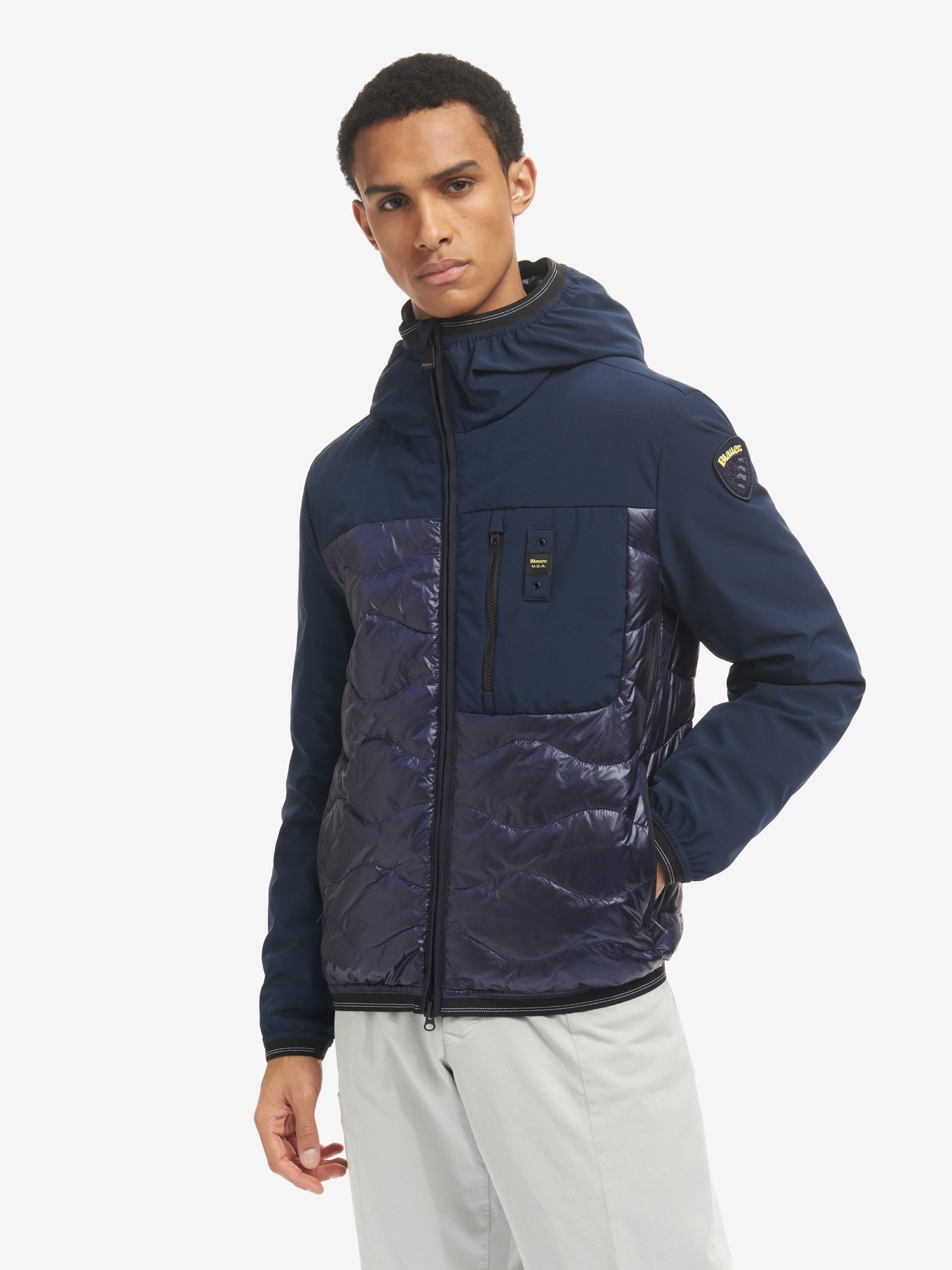 FRANCISCO DUO SMOOTH AND WAVE DOWN JACKET - Blauer