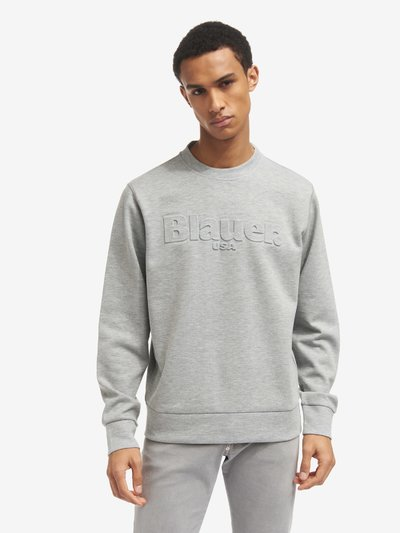 SWEAT-SHIRT COL ROND BICOLORE
