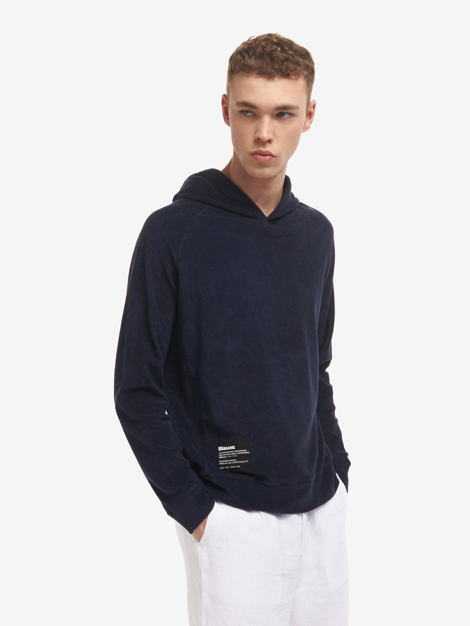 HOODED SWEATSHIRT IN COTTON TERRY - Blauer