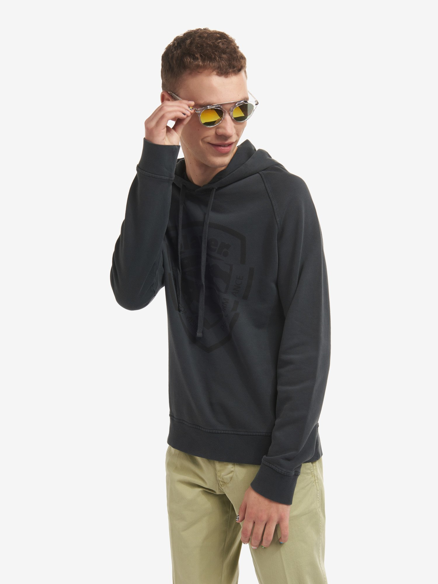 COTTON SWEATSHIRT WITH HOOD - Blauer