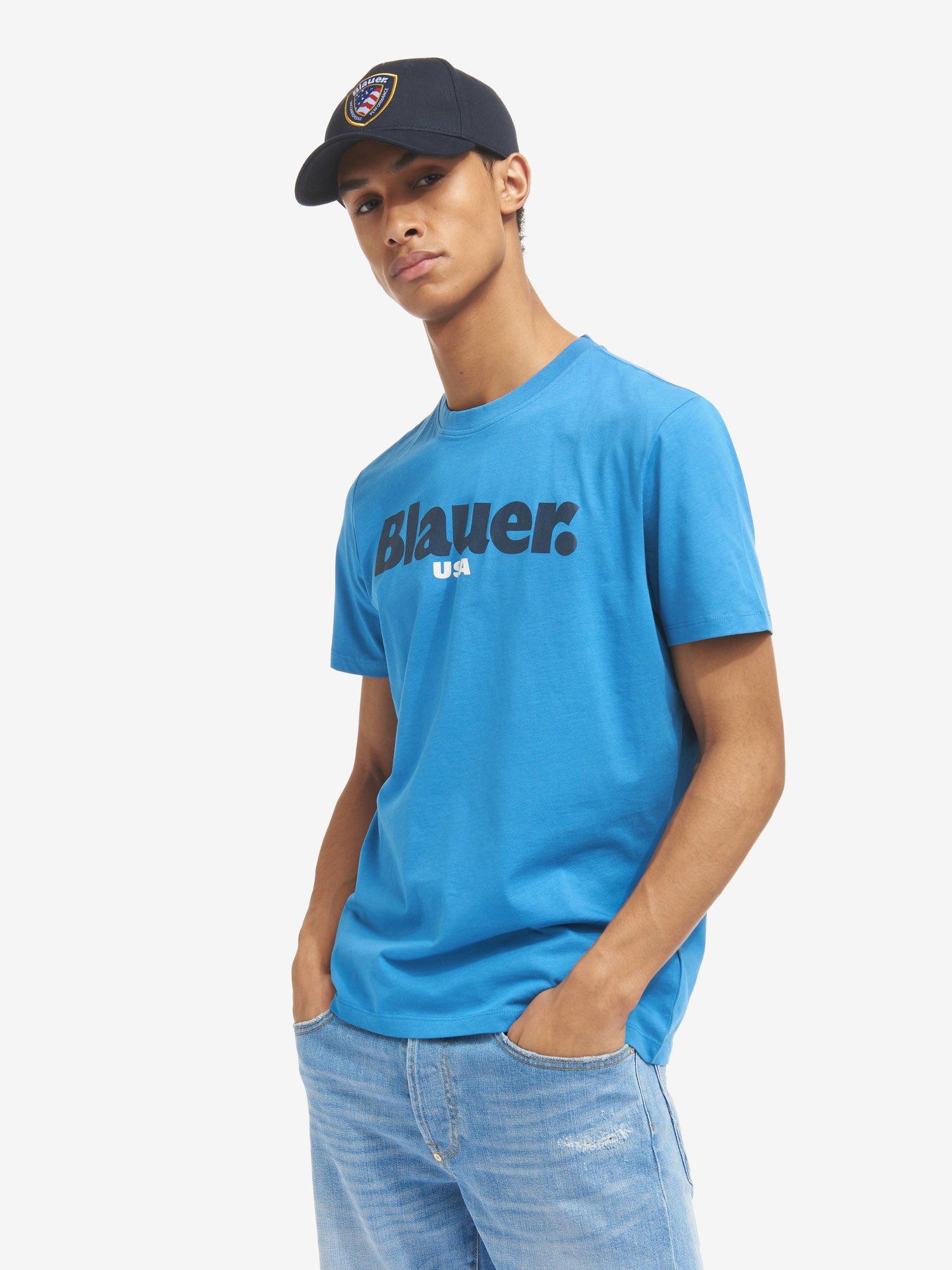 Blauer - T-SHIRT BLAUER USA - Light Sapphire Blue - Blauer
