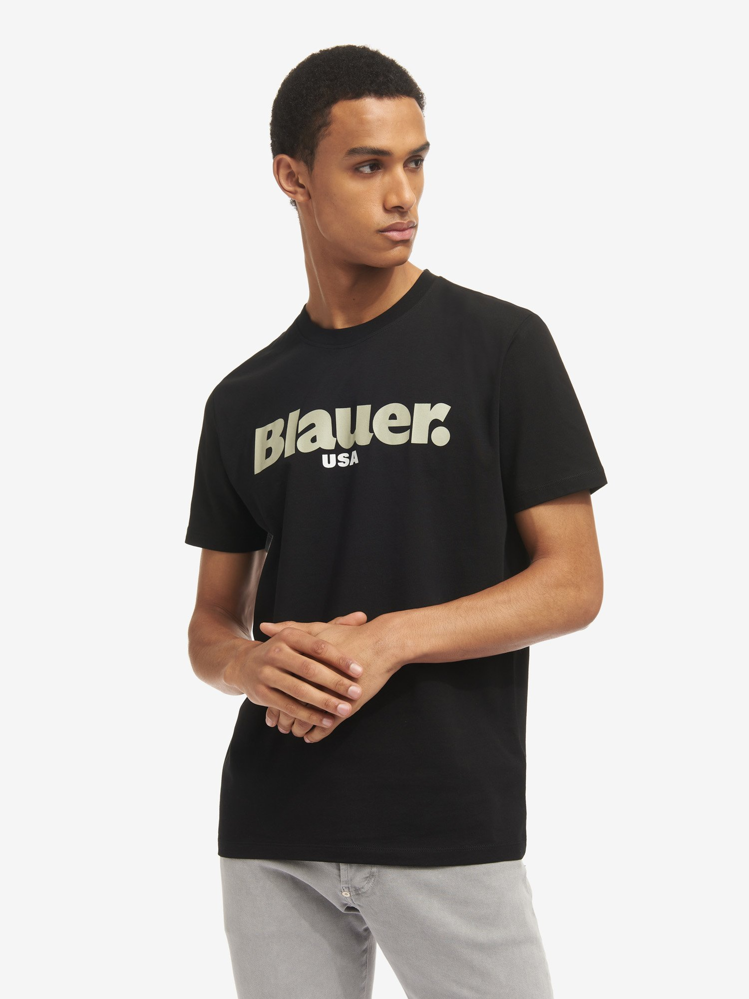 Blauer - CAMISETA BLAUER USA - Negro - Blauer