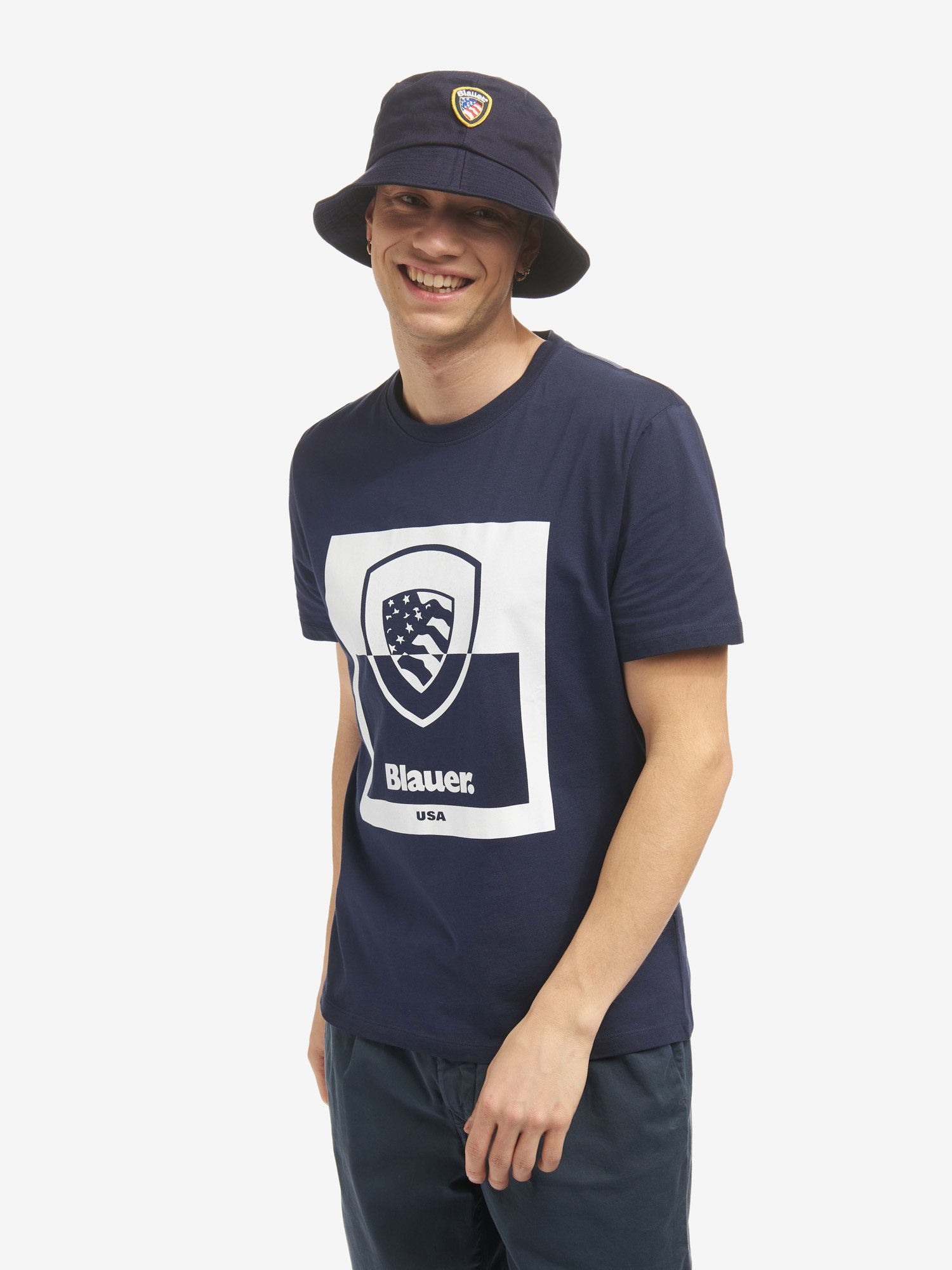 TWO-TONE SHIELD T-SHIRT - Blauer