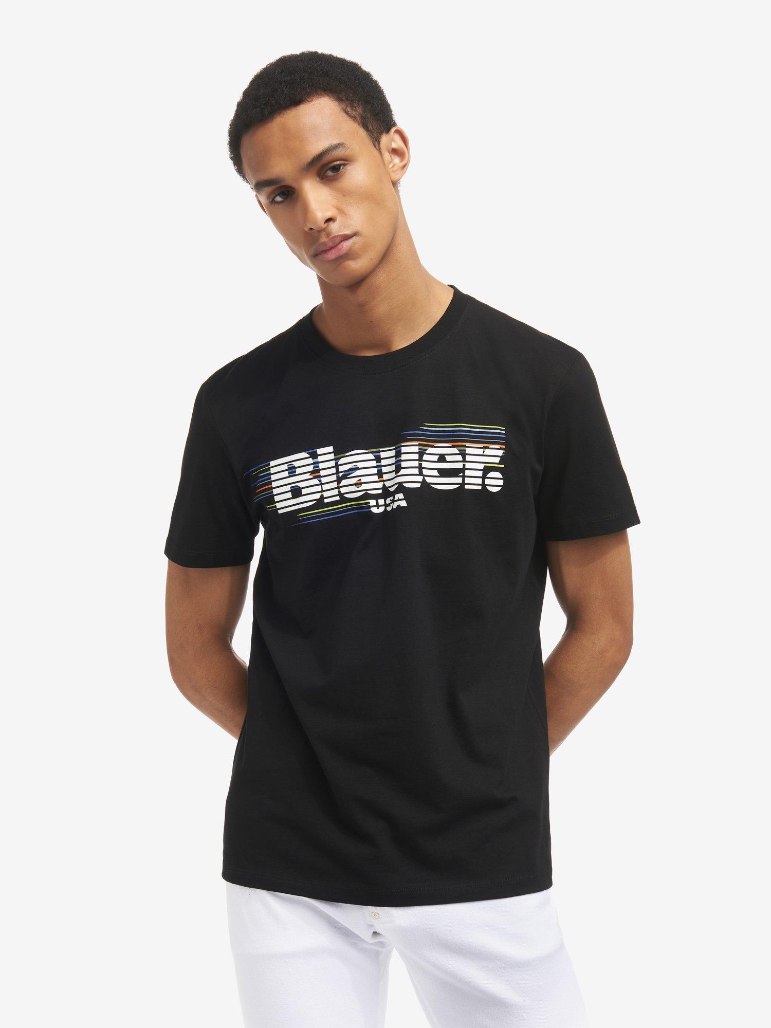 Blauer - GESTREIFTES T-SHIRT BLAUER - Schwarz - Blauer