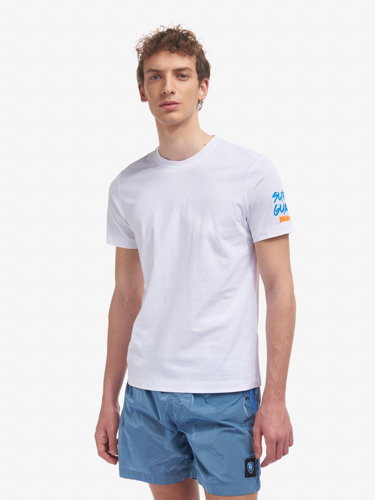 Blauer - T-SHIRT MIAMI BEACH - Weiss - Blauer