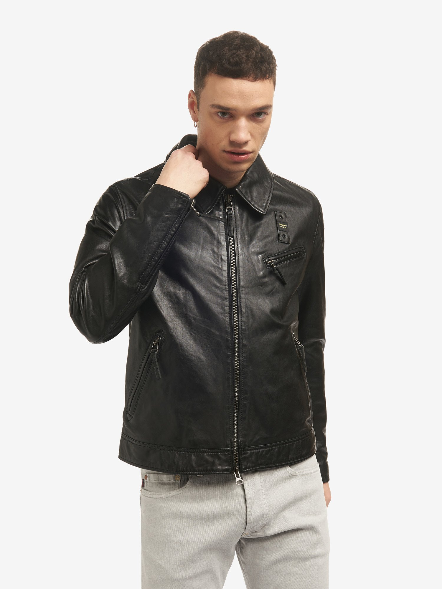 TOM LINED LEATHER JACKET - Blauer