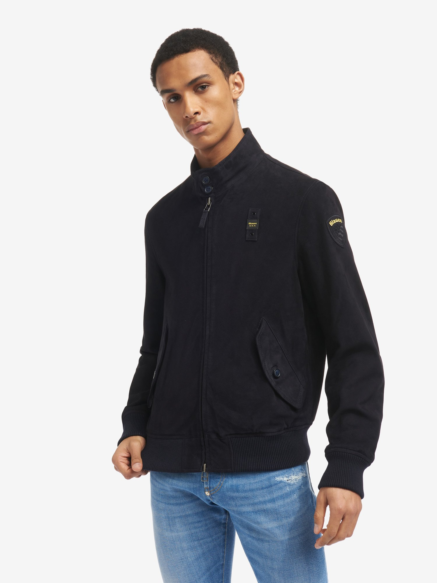 RONNIE LINED SUEDE BOMBER JACKET - Blauer