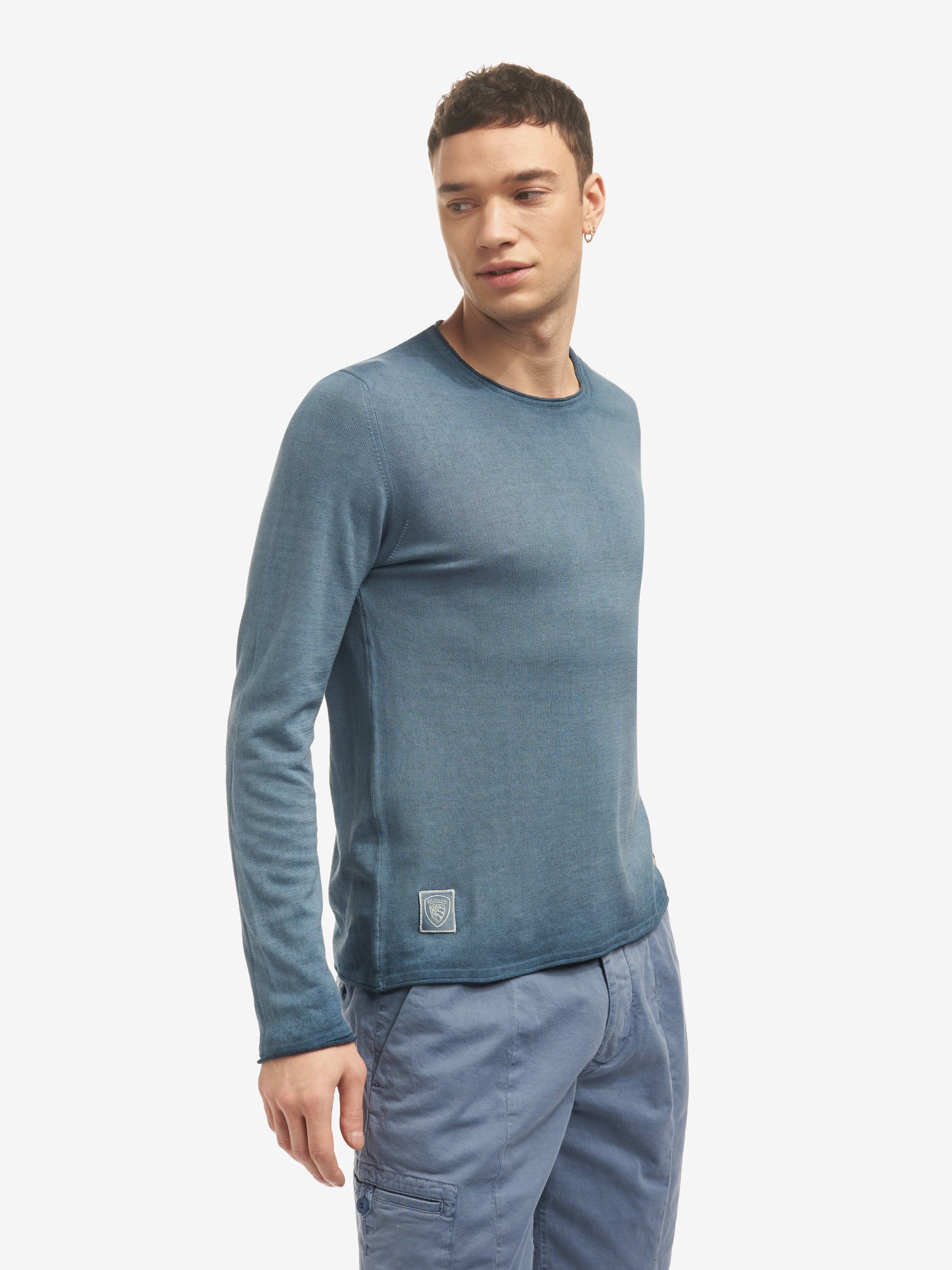 PULL COL ROND - Blauer