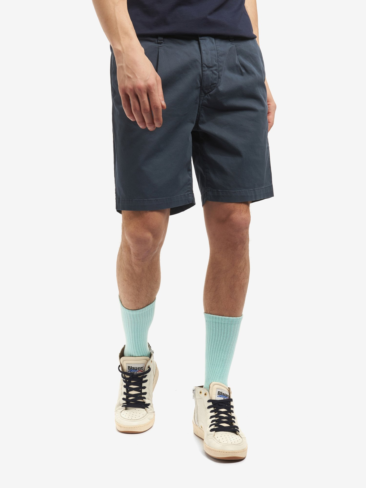 BERMUDA SHORTS WITH GATHERED WAIST - Blauer