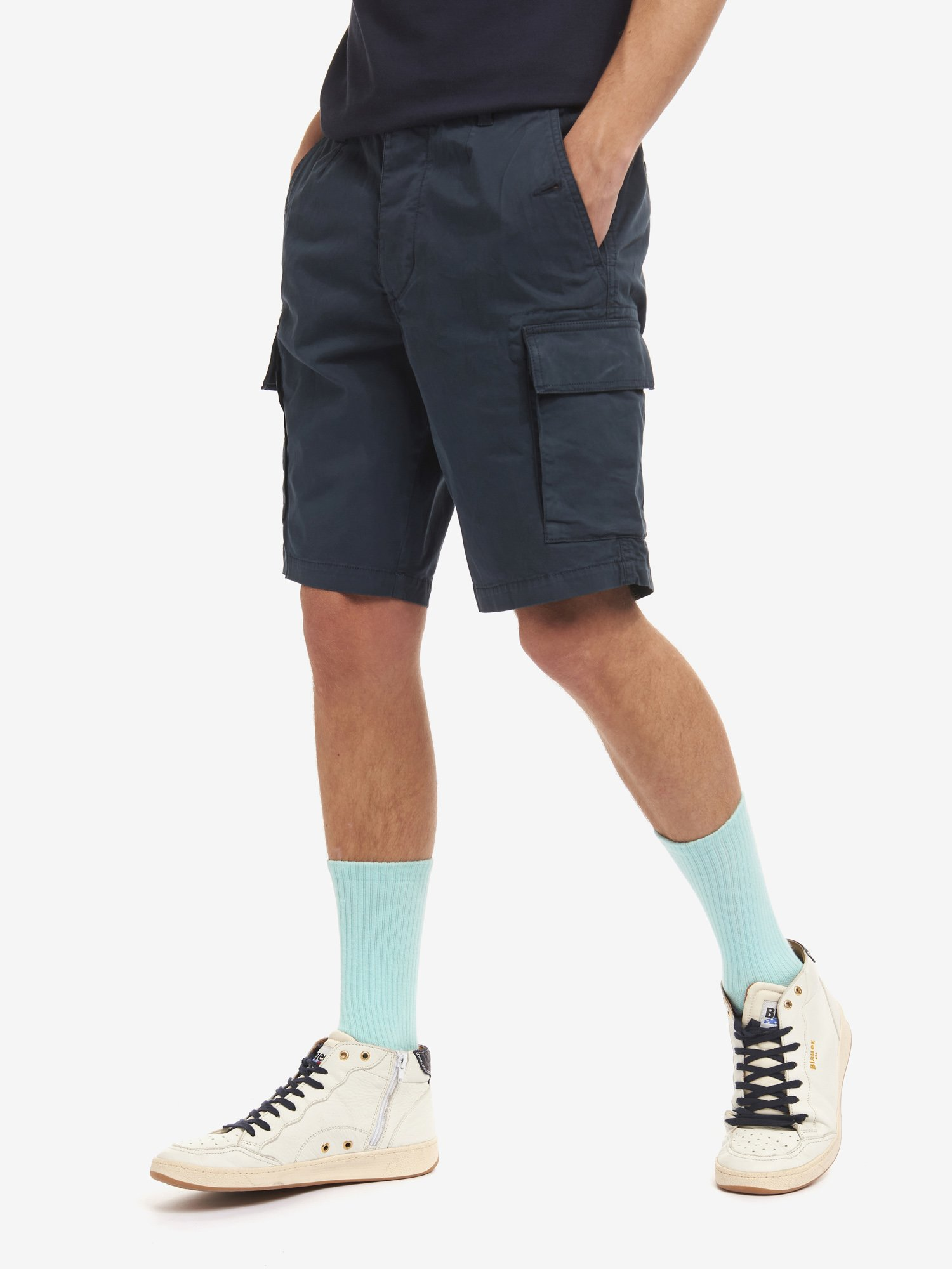 POCKET BERMUDA SHORTS - Blauer