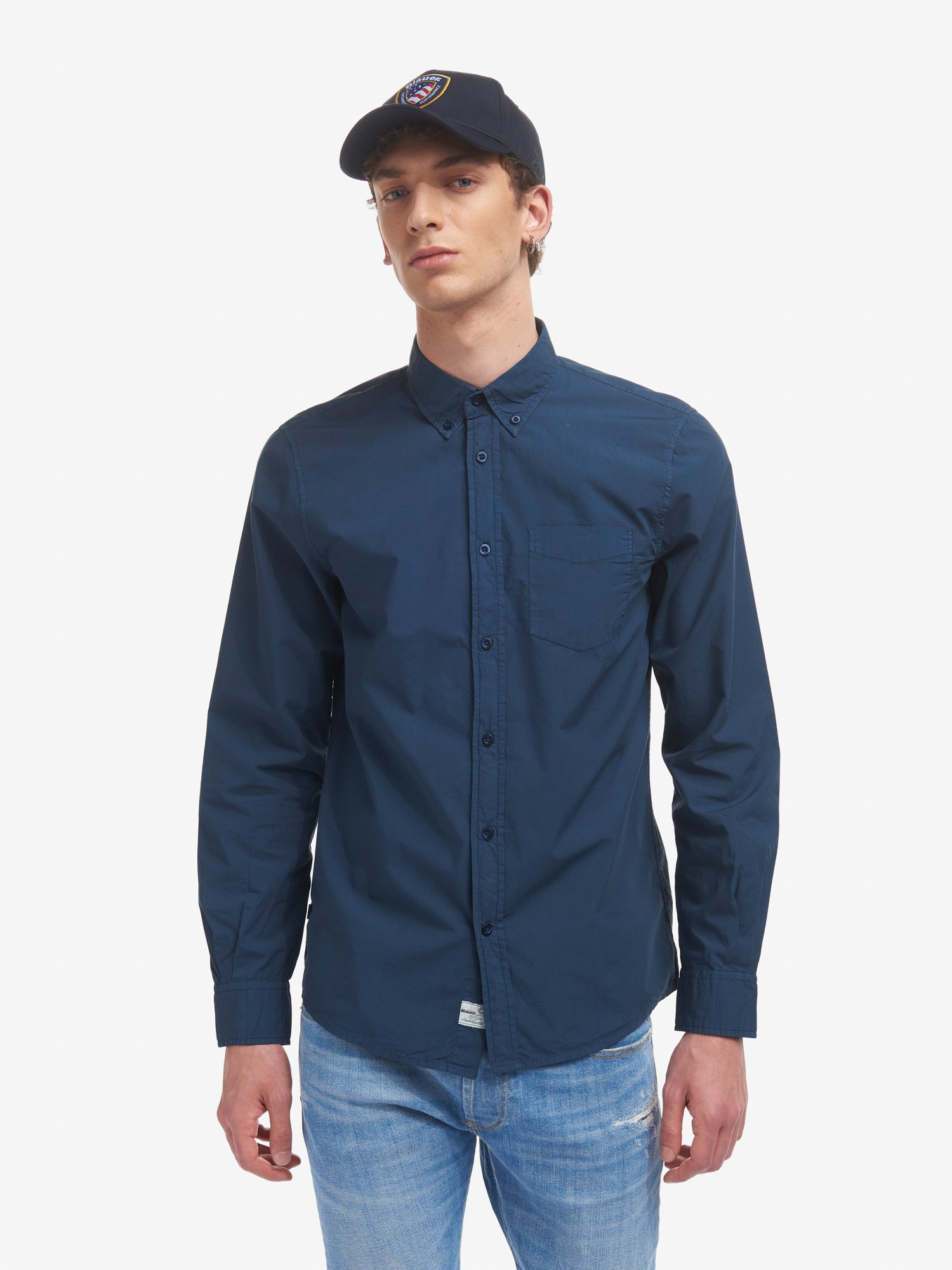 CHEMISE POPELINE MANCHES LONGUES - Blauer