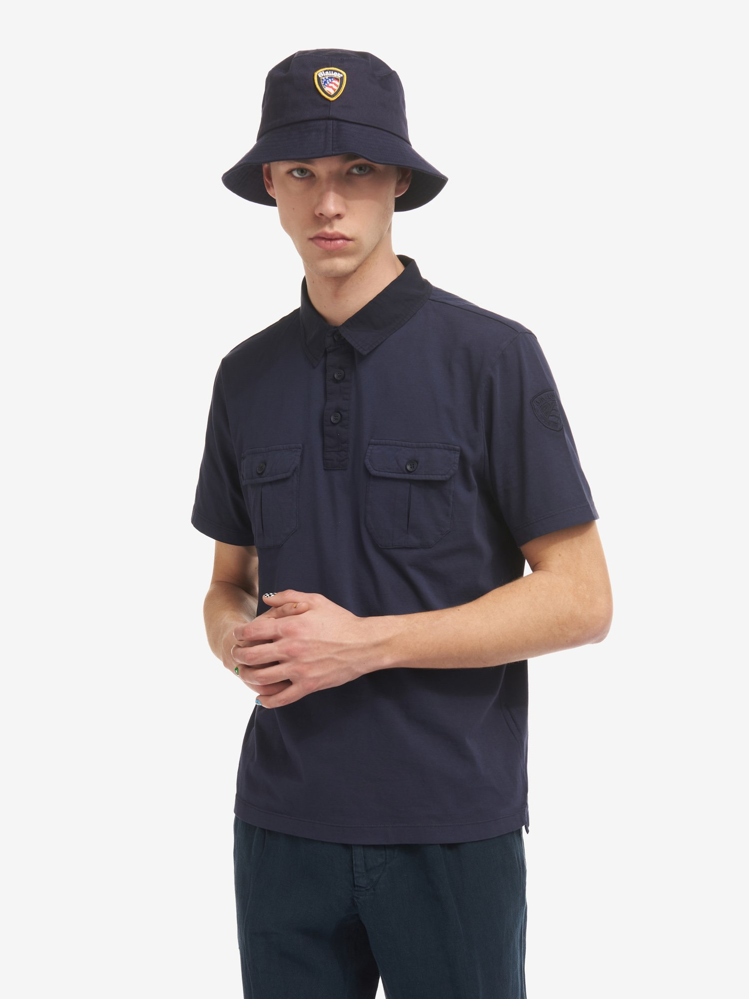JERSEY POLO SHIRT WITH TWO POCKETS - Blauer