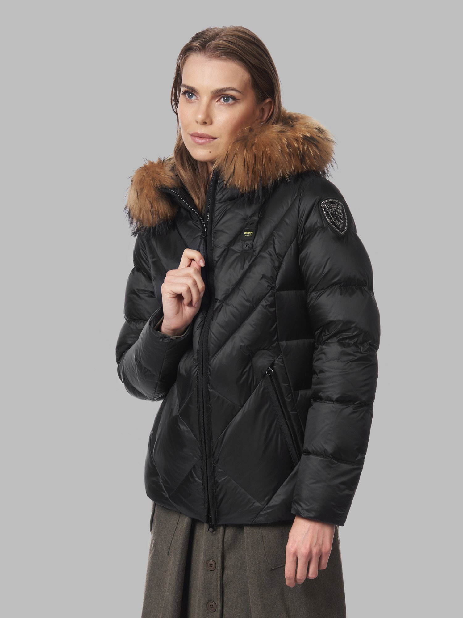 ESTHER DOWN JACKET WITH OFFSET QUILTING - Blauer