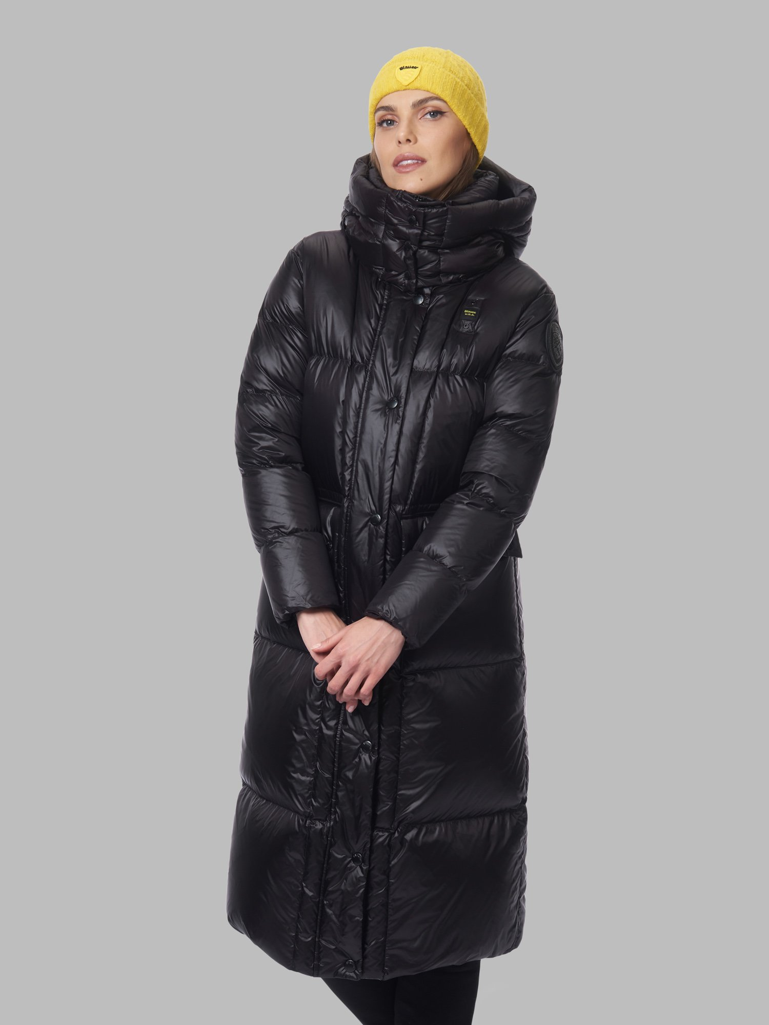 BERNICE LONG DOWN JACKET WITH POCKETS - Blauer
