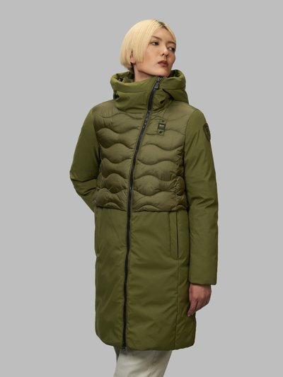 MELANIE LONG DOWN JACKET WITH WAVE-QUILTED VEST