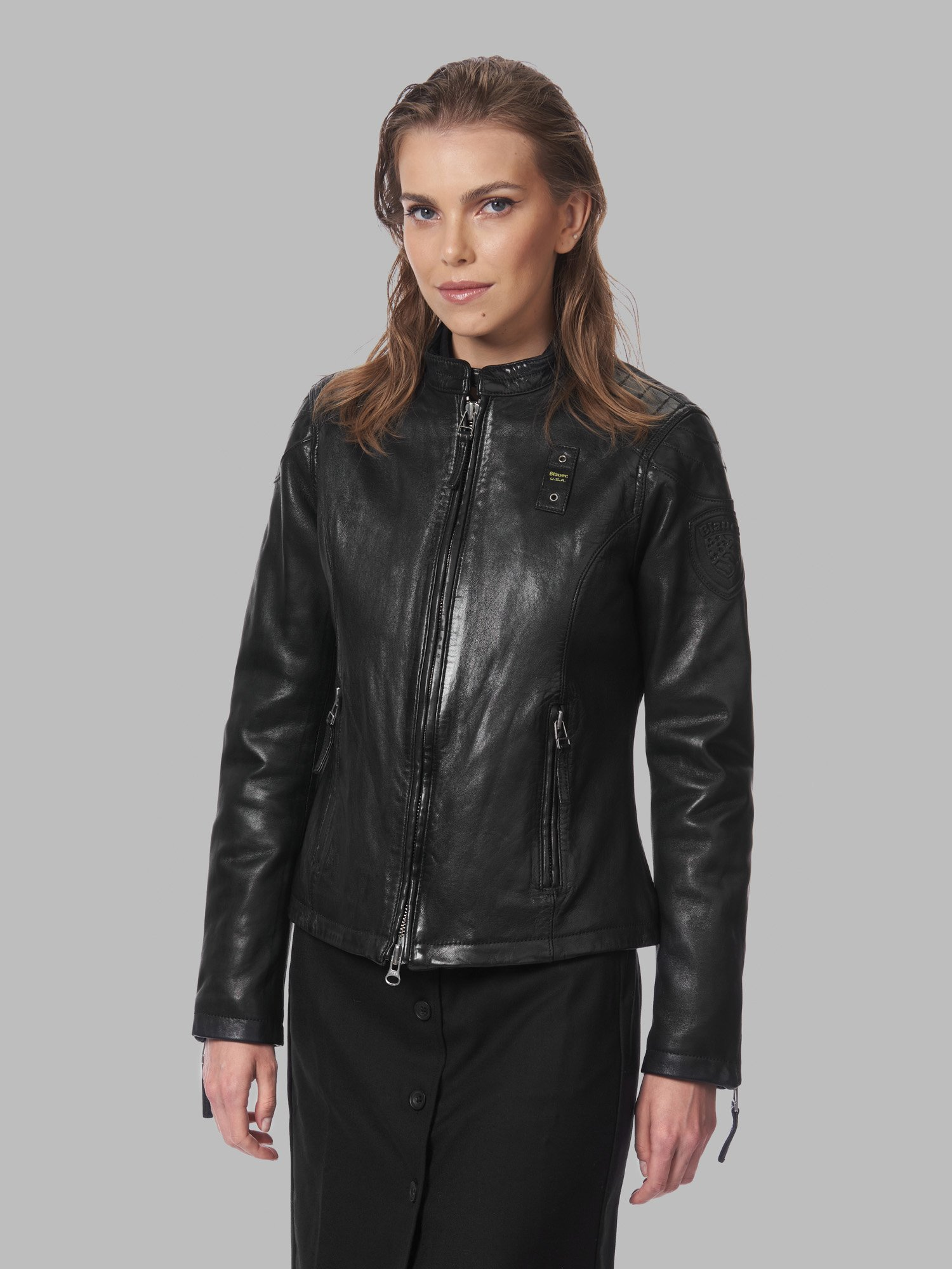 CATHY LEATHER JACKET - Blauer