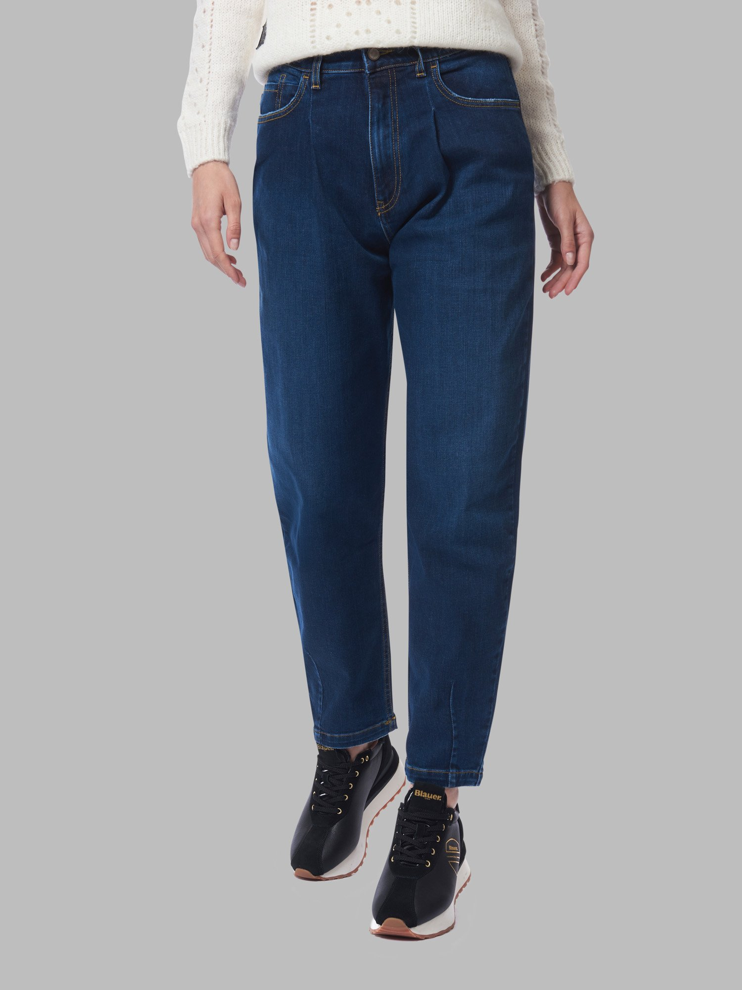 Blauer - JEANS CARROT FIT - Dusty Indaco - Blauer