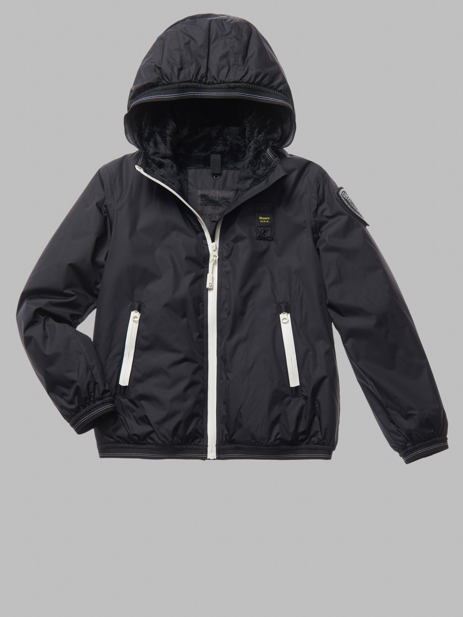 GAIL DOWN JACKET WITH FAUX FUR LINING - Blauer