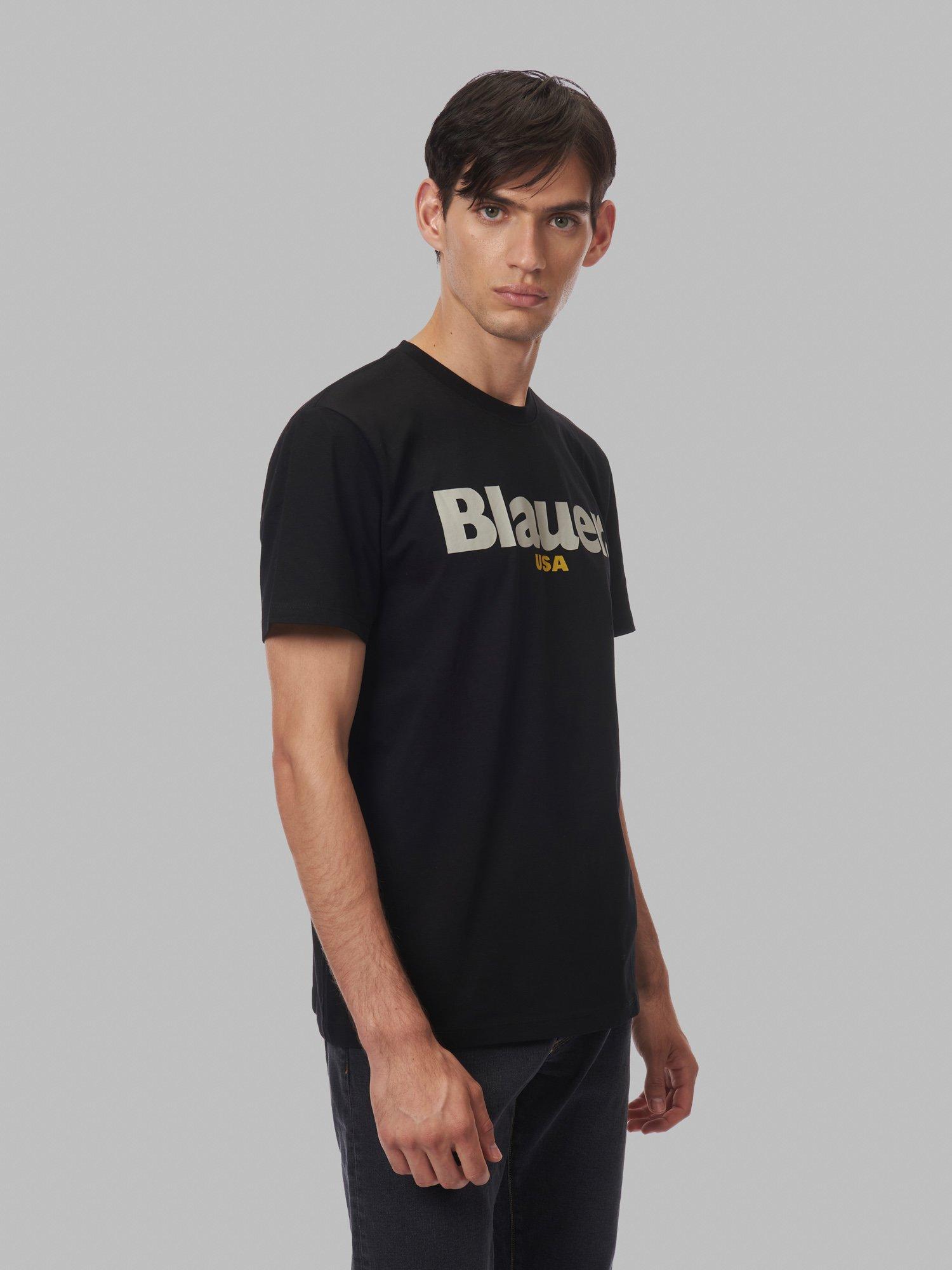 Blauer - ФУТБОЛКА С КОРОТКИМ РУКАВОМ - черный - Blauer