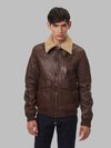 Blauer - ANDRE BOMBER JACKET WITH FUR - Chocolate Brown - Blauer