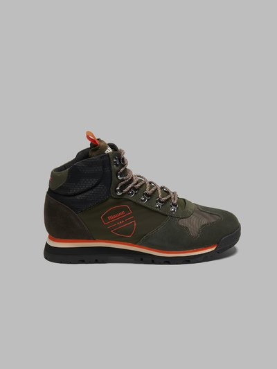 AKRON NYLON SUEDE HIKING HIGH-TOP SNEAKERS