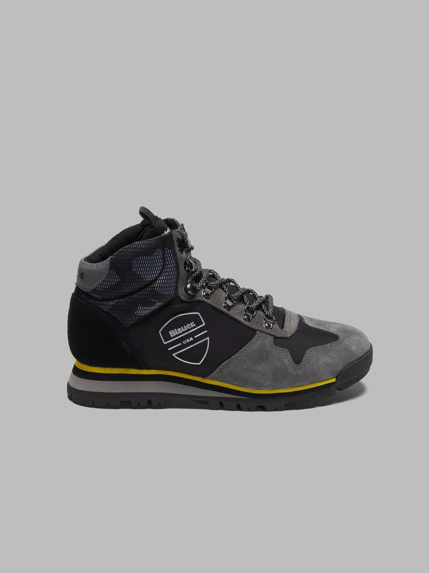 AKRON NYLON SUEDE HIKING HIGH-TOP SNEAKERS - Blauer
