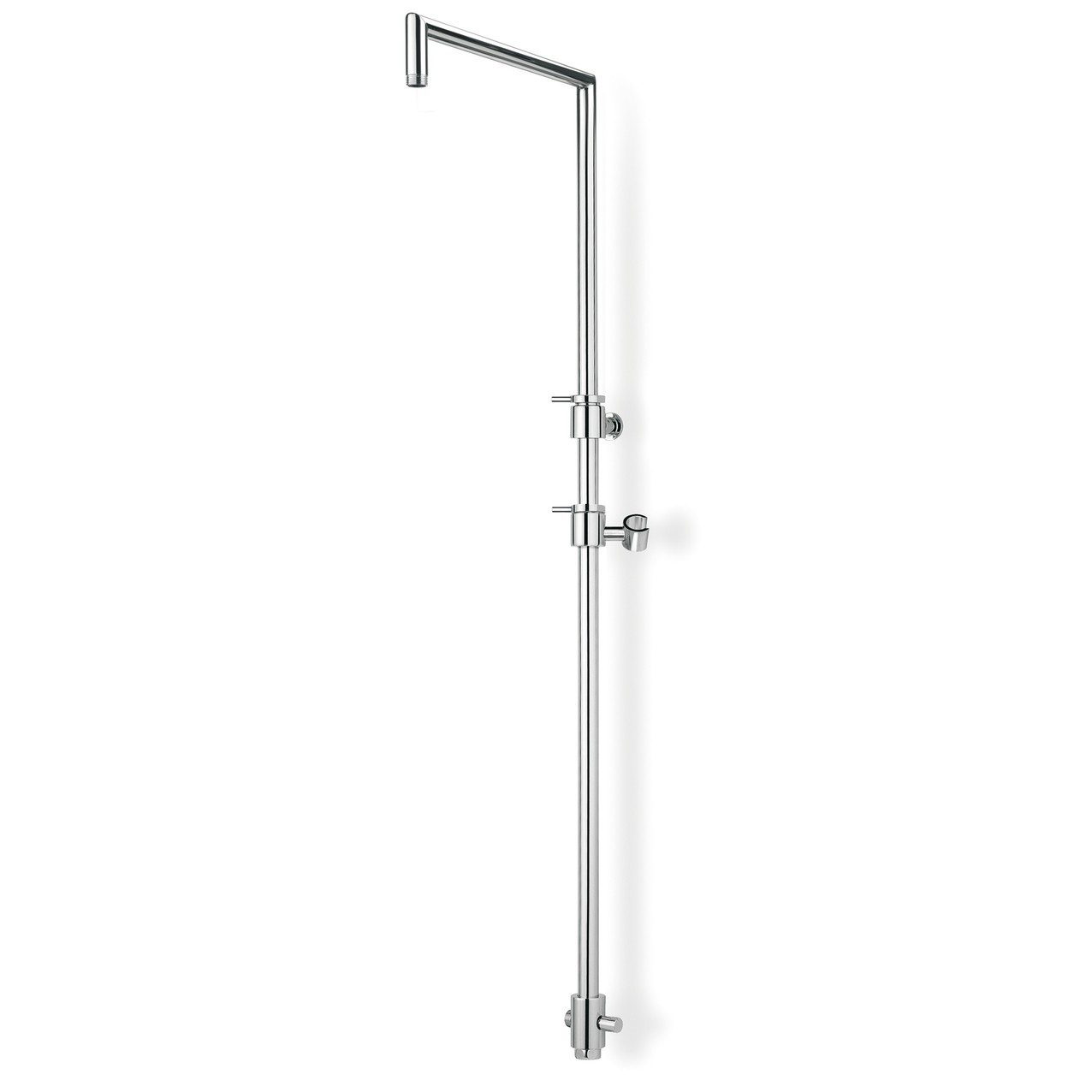 Telescopic square shower column with sliding bar