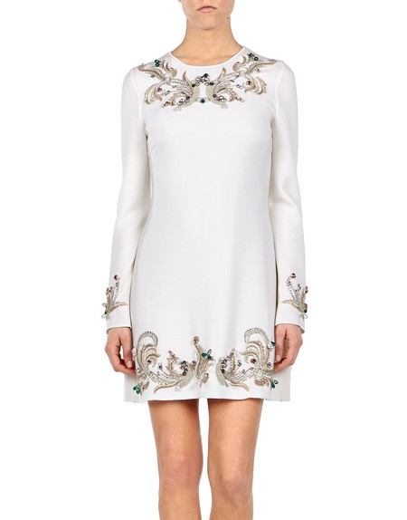 Beaded Embroidery Long Sleeve Dress