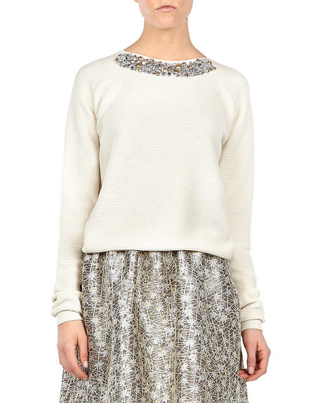 Crystal-embroidered Sweater.