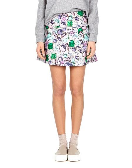 Printed Felt Skirt
