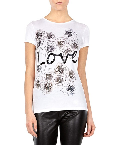 Embellished Love Print Top