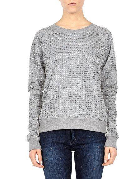 Sequin-embroidered Sweatshirt