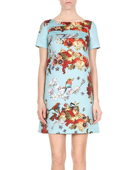 Fruit And Flowers Print Dress