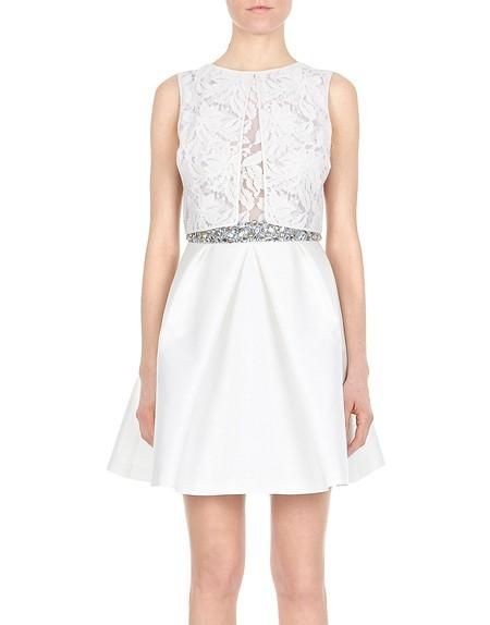 Lace And Duchesse-satin Embellished Dress.