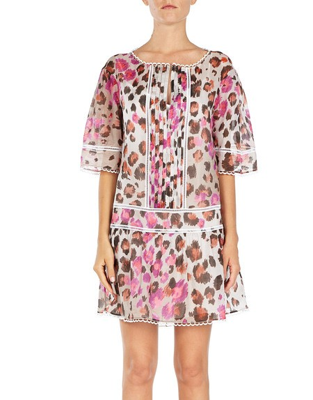 Cotton-voile Printed Mini Dress