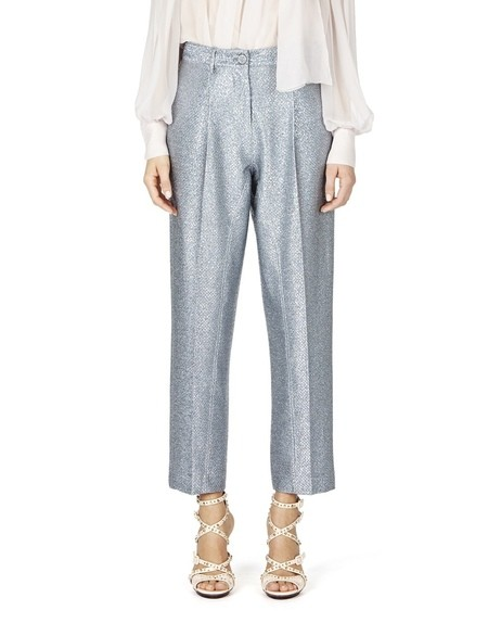Pleated Lurex Pants