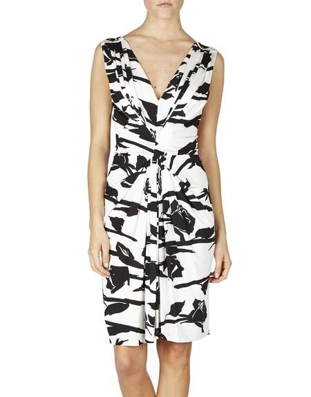 Rose-print Jersey Dress
