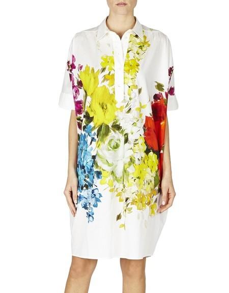 Floral-print Cotton Blouse