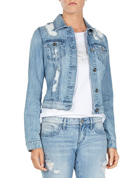 Distressed Embellished Jacket