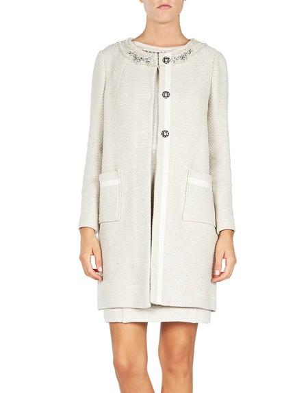 Embellished Tweed Coat