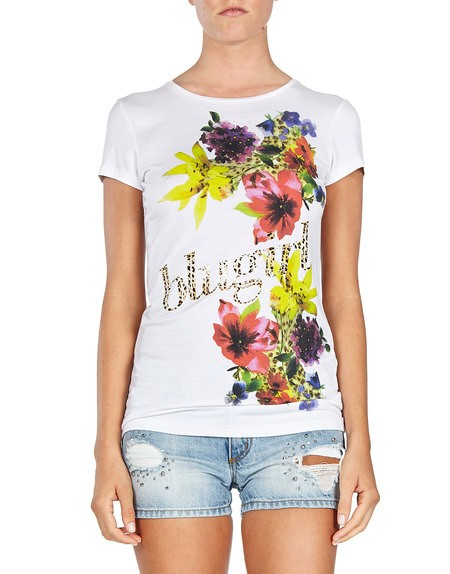 Floral And 'Logo' T-shirt