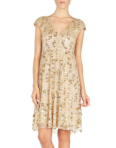 Sequin-embroidered Dress